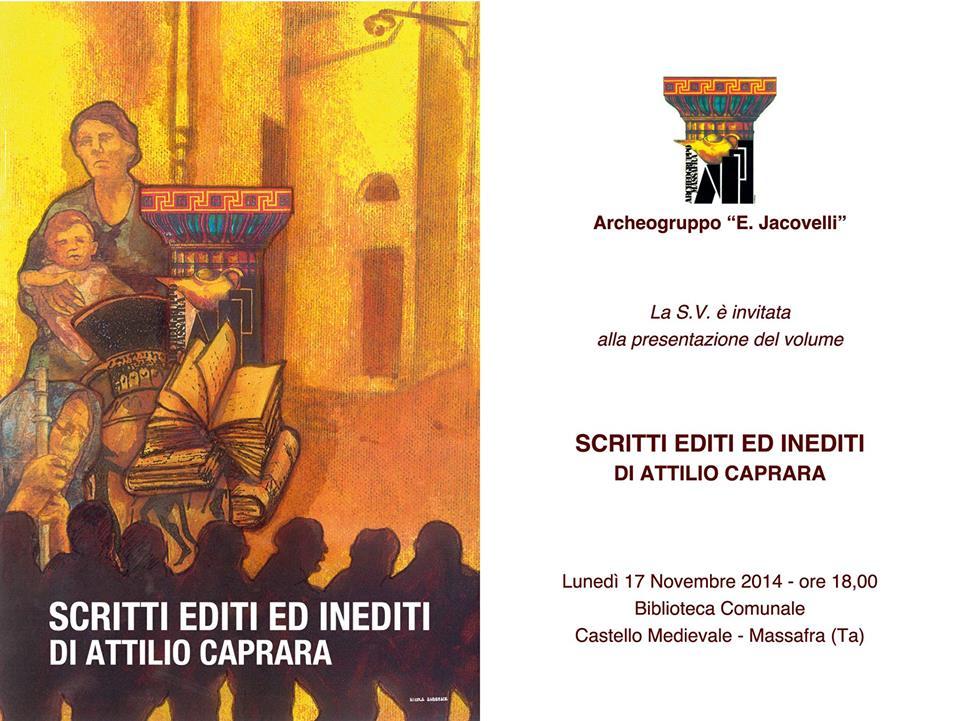 Scritti editi ed inediti di Attilio Caprara
